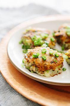 Potato leek and mushroom cakelets