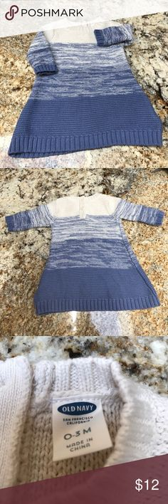 Old Navy Blue and Cream Sweater Dress Washed but never worn. Bundle and save! Old Navy Dresses
