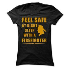 Feel safe at night sleep with a firefighter T-Shirts, Hoodies (23$ ==► Shopping Now to order this Shirt!)