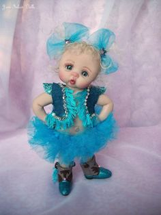 "❤OOAK HAND SCULPTED BABY COWGIRL ""RUTTI TUTTI"" BY: JONI INLOW* DOLLY-STREET❤"