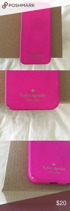 Kate Spade 5s IPhone Case Cute leather pink Kate Spade phone case fits an 5s IPhone. kate spade Accessories Phone Cases