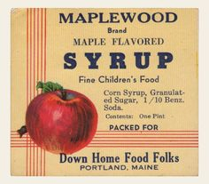 Syrup, 1940s and 1920s on Pinterest
