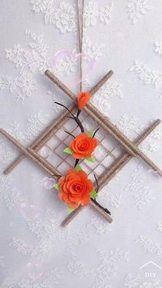 Diy Crafts For Home Decor, Diy Crafts Hacks, Diy Crafts For Gifts, Diy Arts And Crafts, Craft Stick Crafts, Creative Crafts, Wall Decor Crafts, Diy Wall Art, Handmade Crafts