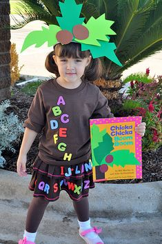 chicka chicka boom boom costume - just had this idea while reading to Owen and of course Pinterest delivered a perfect example!