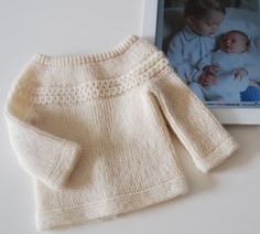 Knitting pattern for Princess Charlotte's baby sweater that she wore in pics with brother Prince George taken by mother Duchess of Cambridge | Royal Family Knitting Patterns