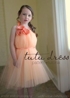 Tutu Dress Pattern + Tutorial (how to sew a tutu dress)  With a slip you might be able to pull this off without really knowing how to sew too!