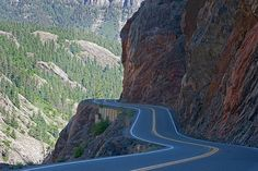The Million Dollar Highway between Silverton and Ouray, CO - a beautiful drive, and a sneeze from going over the edge. ;)