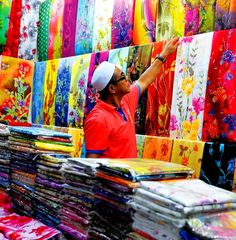 Multi coloured markets. KL.