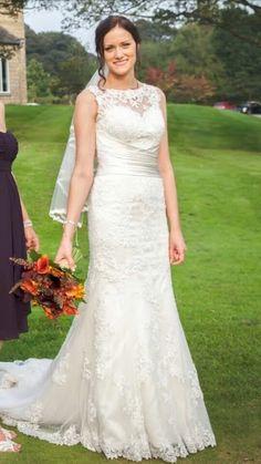 Justin alexander 8596 lace wedding dress