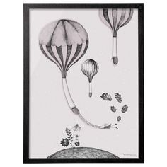 Bloomingville ramme med luftballoner 50 x 70 cm.