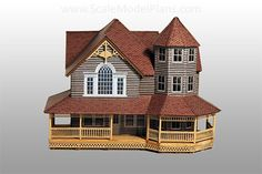 HO Scale Old Victorian Home