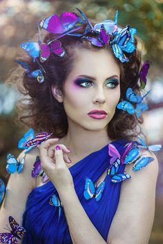 Model - Merima Hella Hadžić Make-up / hair - Oksana Partilova Dress - Design by Emina Photo / retouch by Nadja Berberovic