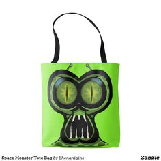 Space Monster Tote Bag