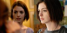 "Love Anne Hathaway's hair in ""Rachel getting Married"" ... choppy bob with really raw ends"