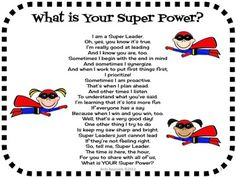 What's Your Super Power?$