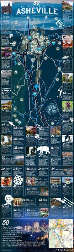 50 fun things to do in Asheville North Carolina.