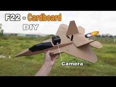 Cardboard RC Airplane DIY - F22 Raptor l S-DiY - YouTube Drone Remote, F22, Model Airplanes, Model Ships, Diy Costumes, Diy Toys, Digital Media, Hello Everyone, Fighter Jets