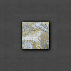 Gold rivers Acrylic pour art Acrylic Pour Painting Small