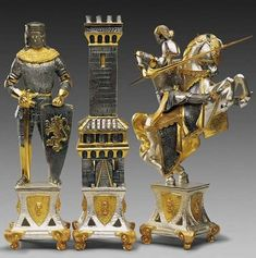 Golden Gothic Chess  Each of these pieces are individually designed by Piero Benzoni