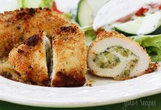 Chicken Rollatini Stuffed with Zucchini and Mozzarella  Gina's Weight Watcher Recipes  Servings: 8 • Serving Size: 1 cutlet • Old Points: 4 pts • Points+: 4 pts    Calories: 171.9 • Fat: 6.3 g • Protein: 20.3 g • Carb: 7.9 g • Fiber: 0.9 g • Sugar: 1.3 g Sodium: 280.7 mg (without salt)