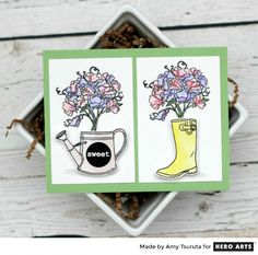 My Monthly Hero: Creativity in a Box July 2017 kit idea #5 by Amy Tsuruta. Kit and add-ons available for purchase Monday, July 3. #mymonthlyhero