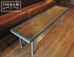 URBAN BENCH TABLE by urbanwoodandsteel on Etsy, $275.00