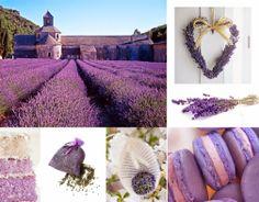 Profumo di lavanda, il ricordo delle ampie distese provenzali... #lavender #party #provence #macarons #cake