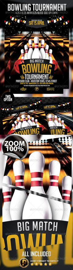 Bowling Flyer u2014 PSD Template #bowling party #sport flyer #bowling - bowling flyer template