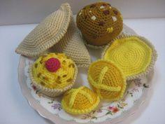 Food Crochet Pattern PDF Instant Download Dessert Cakes Sweet Food Pattern High Tea Pastries