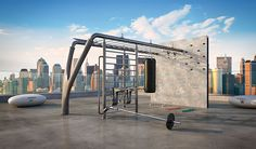 Outdoor Fitness Equipment, No Equipment Workout, Landscape Architecture, Architecture Design, Linear Park, Rooftop Design, Gym Design, Booth Design, Sport Park