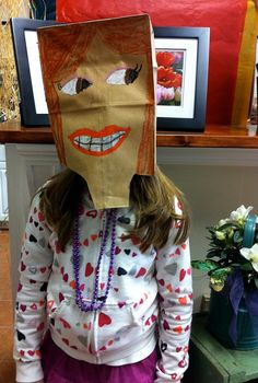 Another great paper bag portrait mask