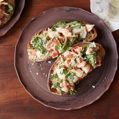 Bruschetta with Shrimp, Tarragon and Arugula By Giada De Laurentiis