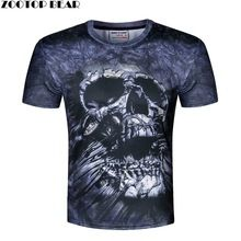Cópia do crânio T shirt Dos Homens 3D camisa Engraçada de T camisa americano bandeira/leão/crânio Casual camisa Plus Size Masculino Top Tee Verão ZOOTOP URSO(China (Mainland))