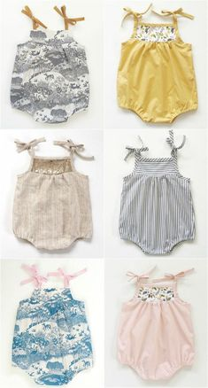 Marya at Swallow's Return designs and makes the sweetest cotton dresses, blouses, rompers and bloomers for babies and girls aged 0 to 5 years. I love