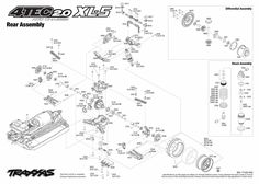 ERevo Brushless (560864) Chassis Assembly Exploded View