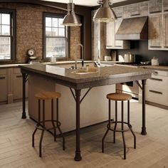 AMISCO - Claw Stool (40400) - Furniture - Kitchen - Industrial collection - Contemporary - non swivel stool