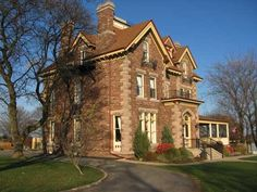 The Keefer Mansion Inn in Thorold, Ontario, going back to the 18th century and owned by a founding family of the community that played a key role in the construction of the first Welland Canal.