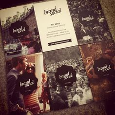 Vintage style Brand Social business cards