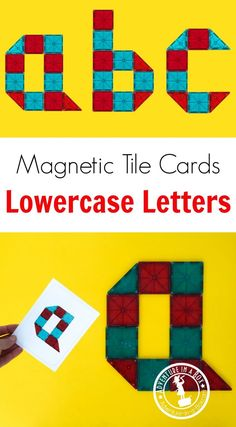 Learn the alphabet in a hands-own way with Magna-Tile printable cards. It's a great idea for preschool or kindergarten literacy corners. Creative Activities For Kids, Alphabet Activities, Literacy Activities, Preschool Ideas, Creative Kids, Writing Prompts For Kids, Kids Writing, Magnetic Letters, Alphabet Letters