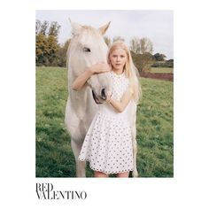 Tapping newcomer Amalie Schmidt, the spring-summer 2015 campaign from Red Valentino shows off its ethereal side with these images captured by Venetia Scott. While last season featured Lottie Moss in whimsical portraits, spring takes a more serious direction. The blonde model poses outdoors in with a white horse surrounded by grass and trees while wearing the new season's ...