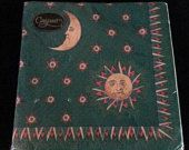 Gaspari Sun and Moon and Stars Paper Napkins. Decoupage Supplies. Pack of 20 Germany