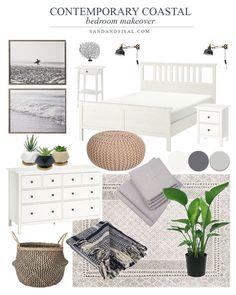 Beach House Bedroom, Home Bedroom, Modern Bedroom, Ikea Bedroom Design, Modern Teen Bedrooms, Contemporary Bedroom Decor, Kitchen Contemporary, Contemporary Design, Master Bedroom