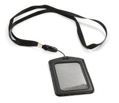 Cosmos-Black-5-Set-of-Faux-Leather-Business-ID-Badge-Card-Holder-with-Long-Neck-Strap-Band-Lanyard-36-inch-full-round-length-With-Cosmos-Fastening-Strap