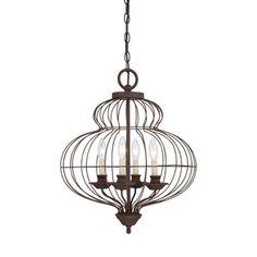 Birdie Cage 3-light Distressed Iron Mini Chandelier | Overstock.com Shopping - The Best Deals on Chandeliers & Pendants