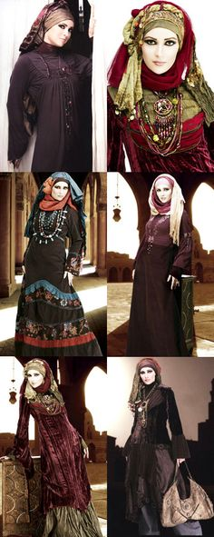 high drama hijab - I'm not sure if I have the presence to pull of these looks, but I just adore them!