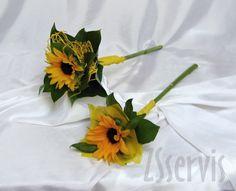 Svatební floristika | Pro družičky | Kytice pro družičku - žezlo ze slunečnice | ZSservis květiny Hlučín
