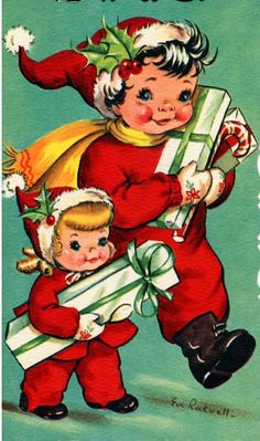377 best Vintage Christmas Cards 1940-50 images on Pinterest ...