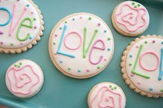 Love Cookies for Valentine's Day by Snickety Snacks