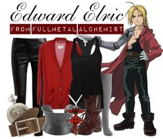 [Fullmetal Alchemist] Edward Elric Also threw in a single gray knee high sock…no one would know you're wearing it, but that's the beauty of casual cosplay—most people don't even realize you're doing it. (☉‿☉✿)  View all FMA outfits here.