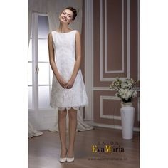 Standesamtkleid Hürtgenwald - Model Aliyah www. Mini Wedding Dresses, Tea Length Wedding Dress, Bridal Dresses, Flower Girl Dresses, Beaded Lace, Fashion Studio, Salons, White Dress, Bride